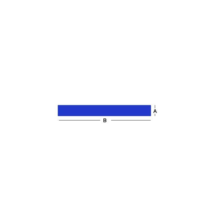 6061 Aluminum Flat Bars - 1/4 Inch X 2 Inch