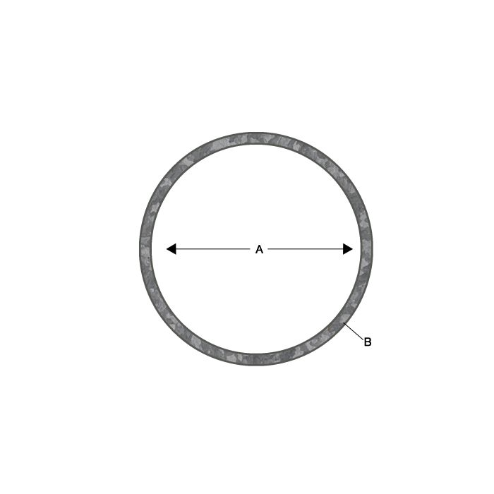 Galvanized Fence Post - 16 Gauge X 1-5/8 Inch