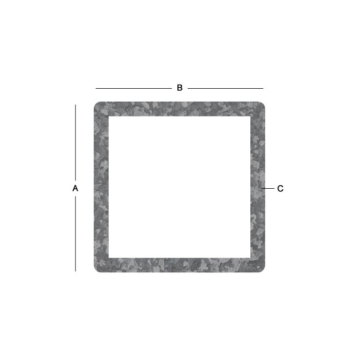 Galvanized Square Tube - 16 Gauge X 5/8 Inch