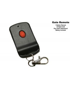 Gate Operator Remote - Keychain Attached - 10 Digit Code - 1 Button