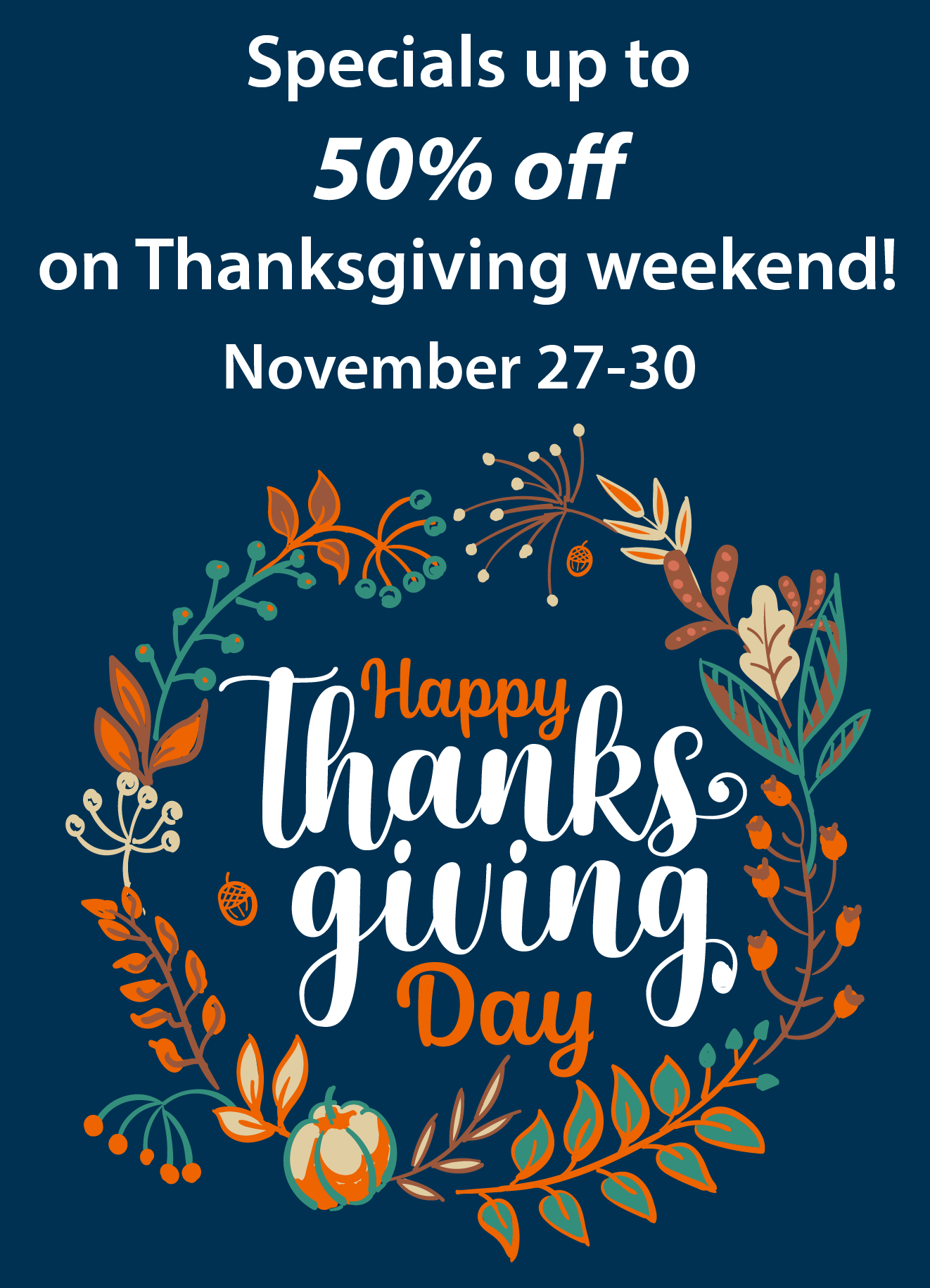 Bobco Metals Thanksgiving Weekend Sales 2020