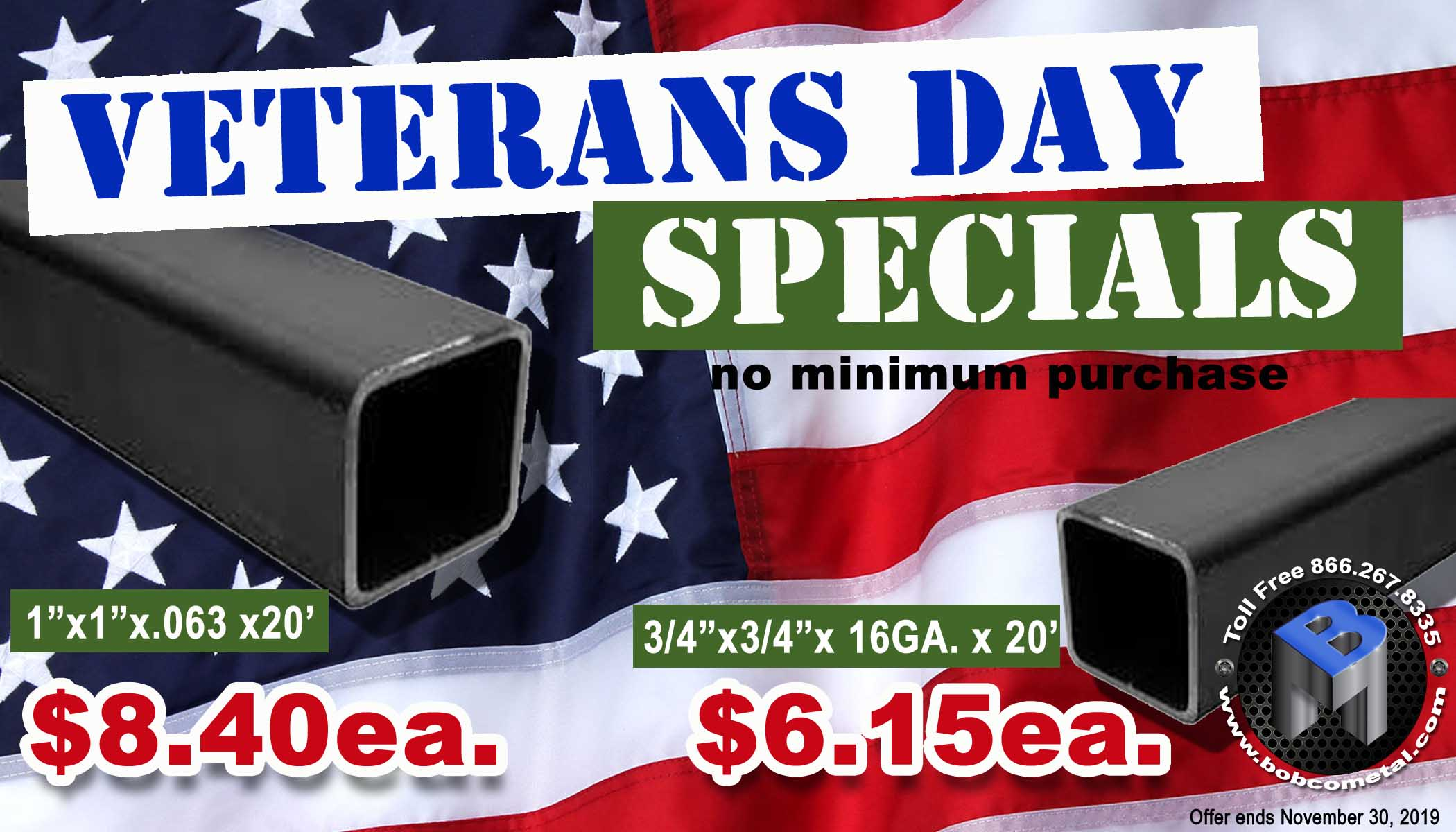 Check out Bobco's Special Deals for Veteran's Day